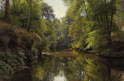River landscape Jylland
