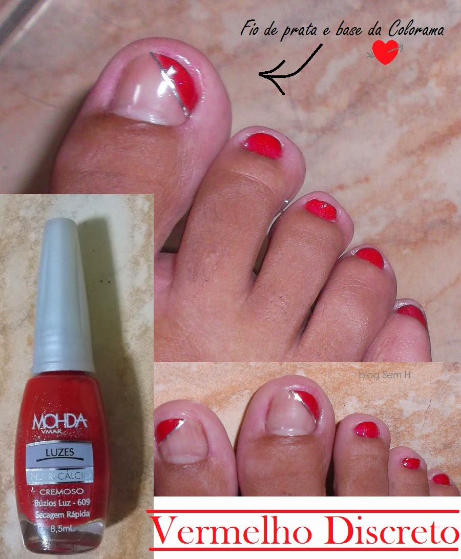 esmalte vermelho nas unhas dos pés