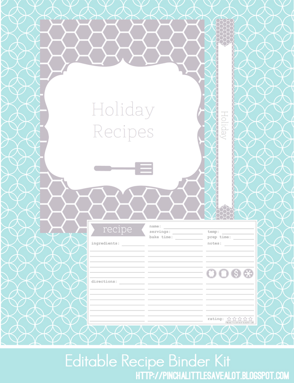 free recipe templates for binders - download here