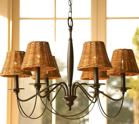 Unique Graceful and simple the Pottery Barn Graham Chandelier has a bronzed finish that us just right for a variety of shade styles making it easy to update with