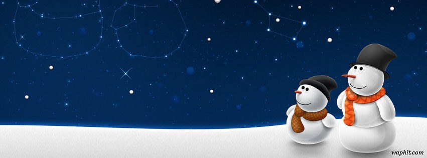 Christmas snowman snow child | Facebook Covers | HD ...
