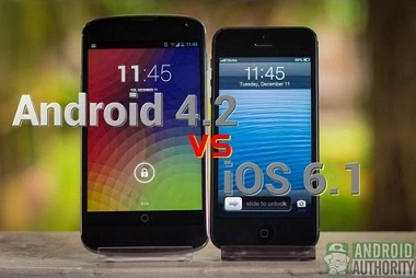ANDROID 4.2 VS. IOS 6.1