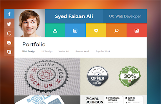vCard Responsive Free Blogger Template