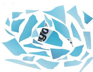 Eliso Silva, collage, artista plástico venezolano, azul