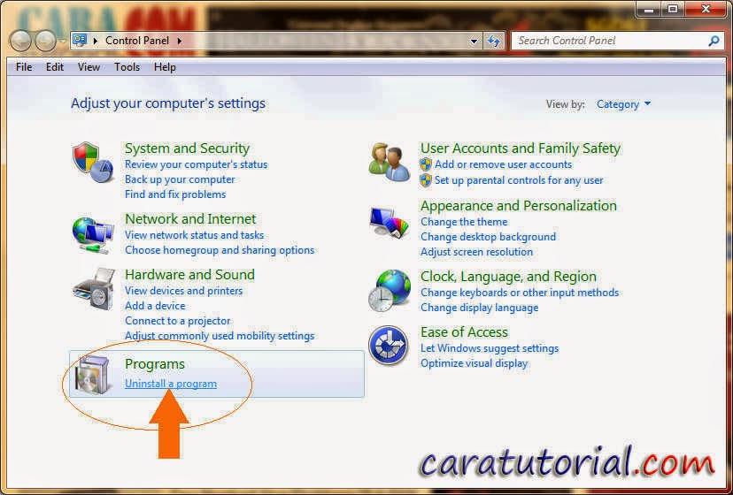 Cara Hapus Aplikasi di Komputer Windows 7/8/XP