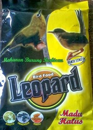 LEOPARD BIRD FOOD MAKANAN BURUNG BERKICAU