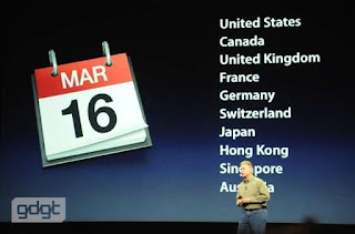 Availability of iPad 3 in Different Countries