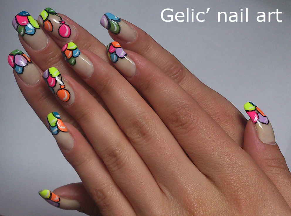 Gelic nail art balloon funky french balloon nail art balloon funky french balloon nail art prinsesfo Images