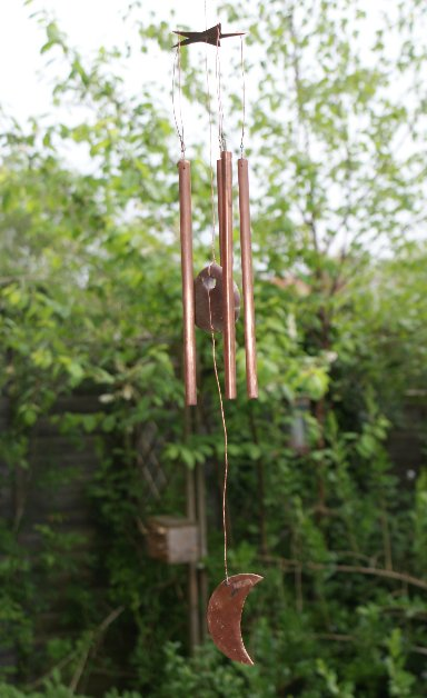 The shed and beyond homemade copper wind chime for Homemade chimes