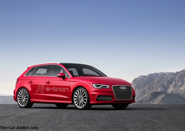Audi A3 e-tron red
