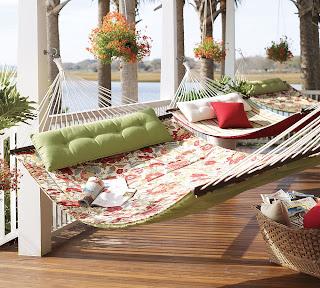 camas de rede varanda