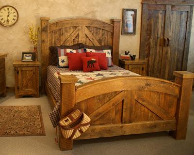 Muebles para dormitorios y camas rsticas un encanto for Dormitorios 2 camas muebles