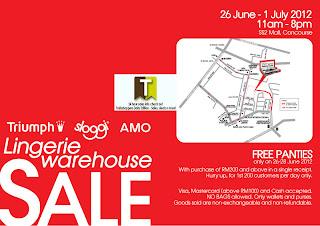 Triumph Sloggi AMO Lingerie Warehouse Sale 2012