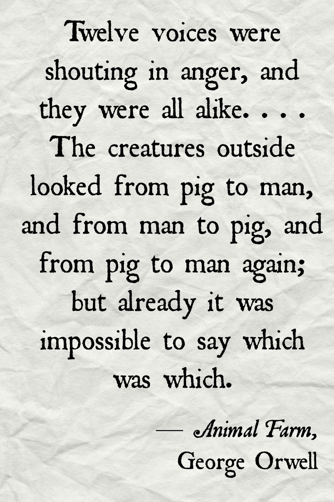 an analysis of leader and follower in animal farm by george orwell I studied animal farm back in year 10 so my analysis of the text is a bit mediocre but oh well  napoleon has learnt a lot as leader of animal farm and he has .