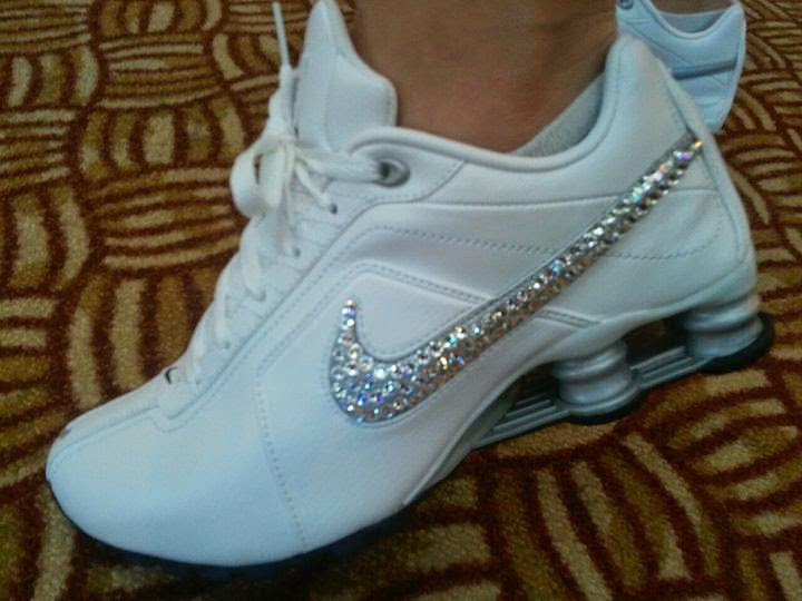 simple sweet diy bedazzled tennis shoes