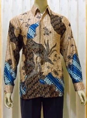 model baju batik lengan panjang pria kantor