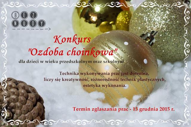 "Konkurs ""Ozdoba choinkowa"""