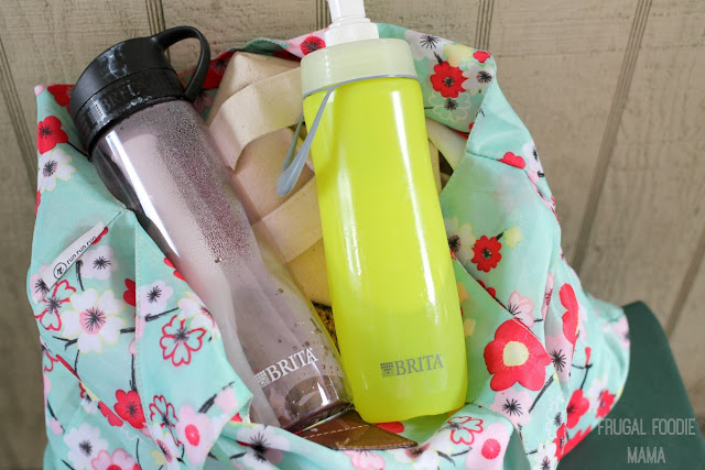 Brita water bottles are lightweight, easy to use, and can filter water from anywhere thanks to the built-in filters. #BritaOnTheGo #Pmedia #ad