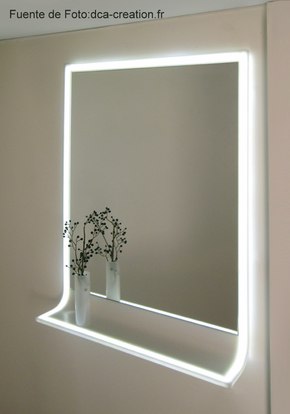 Espacio reservado para ti reflejos de luz - Espejo bano con luz integrada ...