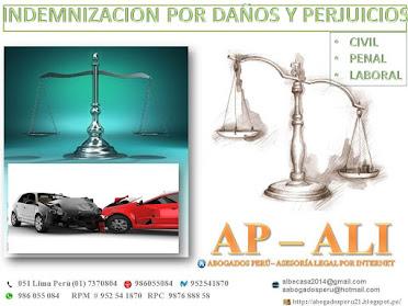 INDEMNIZACIONES, ASESORÍA LEGAL, INDEMNIZACIÓN, INDEMNIZACIONES POR DAÑOS Y PERJUICIOS.