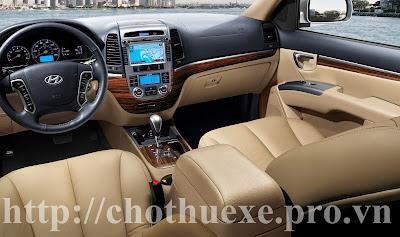 Cho thuê xe 7 chỗ Hyundai Santafe