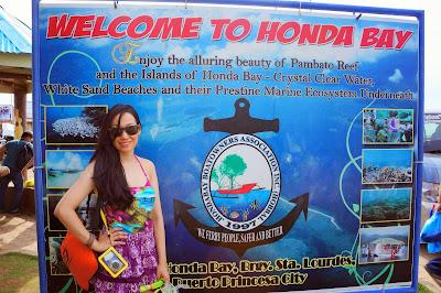 Trisha Sebastian in Honda Bay Puerto Princesa Palawan