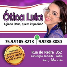 BRITO. Um novo conceito em ótica em Conceição do Coité ~ GN NEWS ... 7275ff35ed