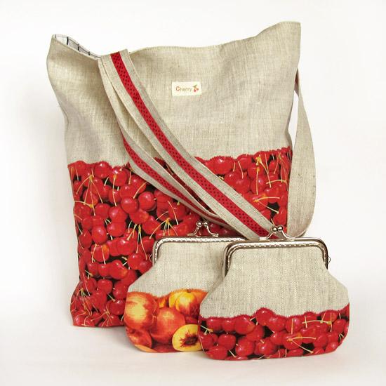 Bag Cherries and purse, фруктовый комплект
