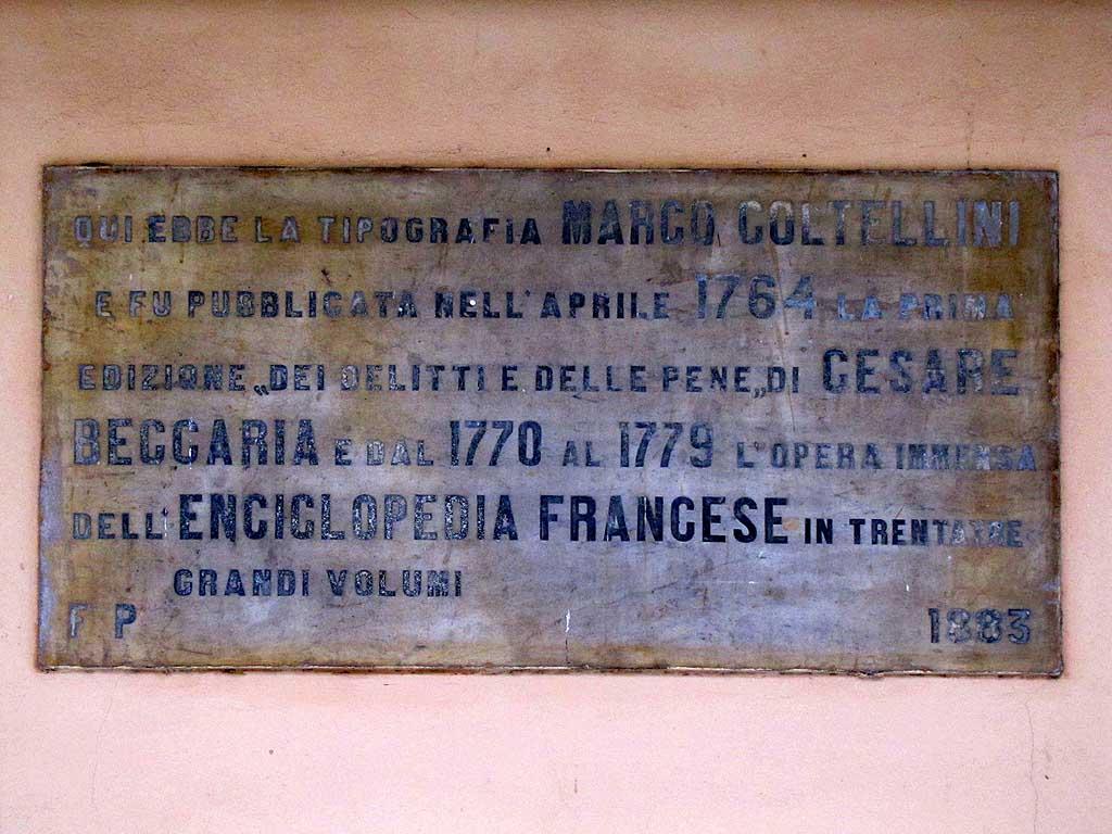 Plaque, Marco Coltellini, Palazzo di Giustizia, Livorno