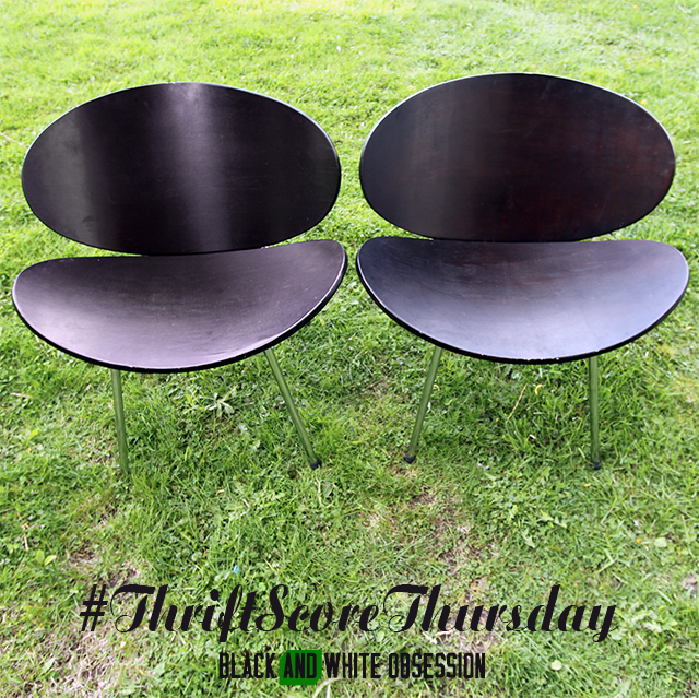 #thriftscorethursday Week 18, Best weekend ever: Ebony Chairs | www.blackandwhiteobsession.com