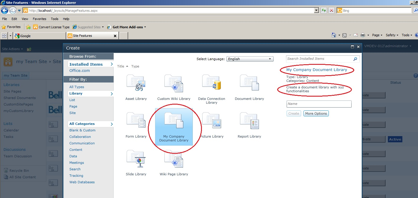 SharePoint & Co: Creating a custom document library for SharePoint 2010