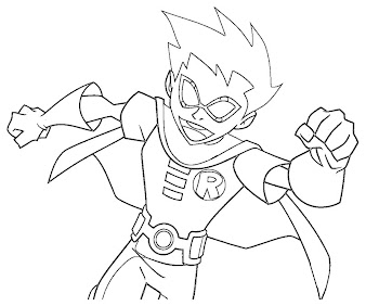 #5 Robin Coloring Page