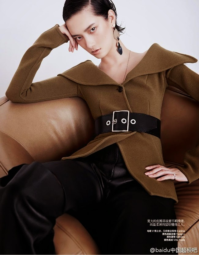 Céline 2014 AW Olive Low-Twist Top Editorials