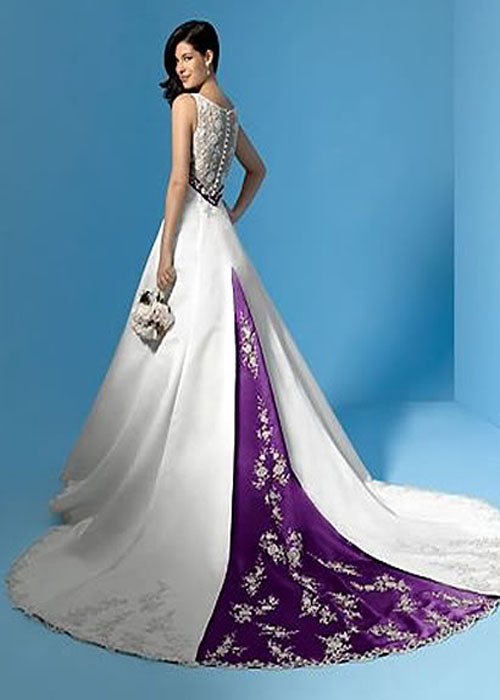 Various kinds of wedding dresses with new models white for White wedding dress with purple accents