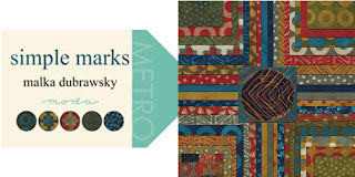 Moda SIMPLE MARKS Quilt Fabric by Malka Dubrawsky