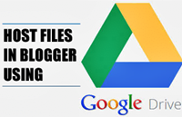 Host CSS, HTML or JavaScript Files in Blogger