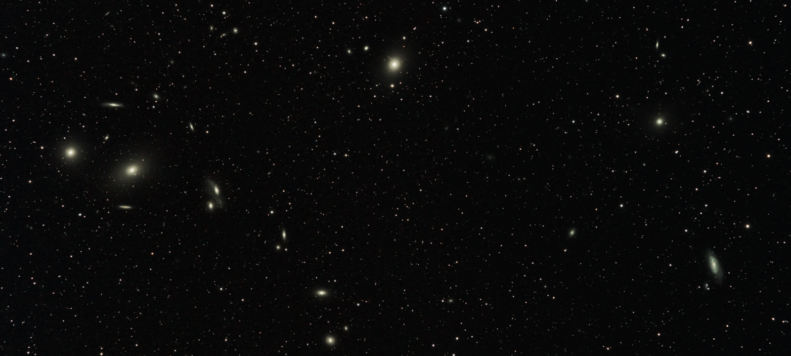 Markarian's Chain plus M87, M89 and M90.