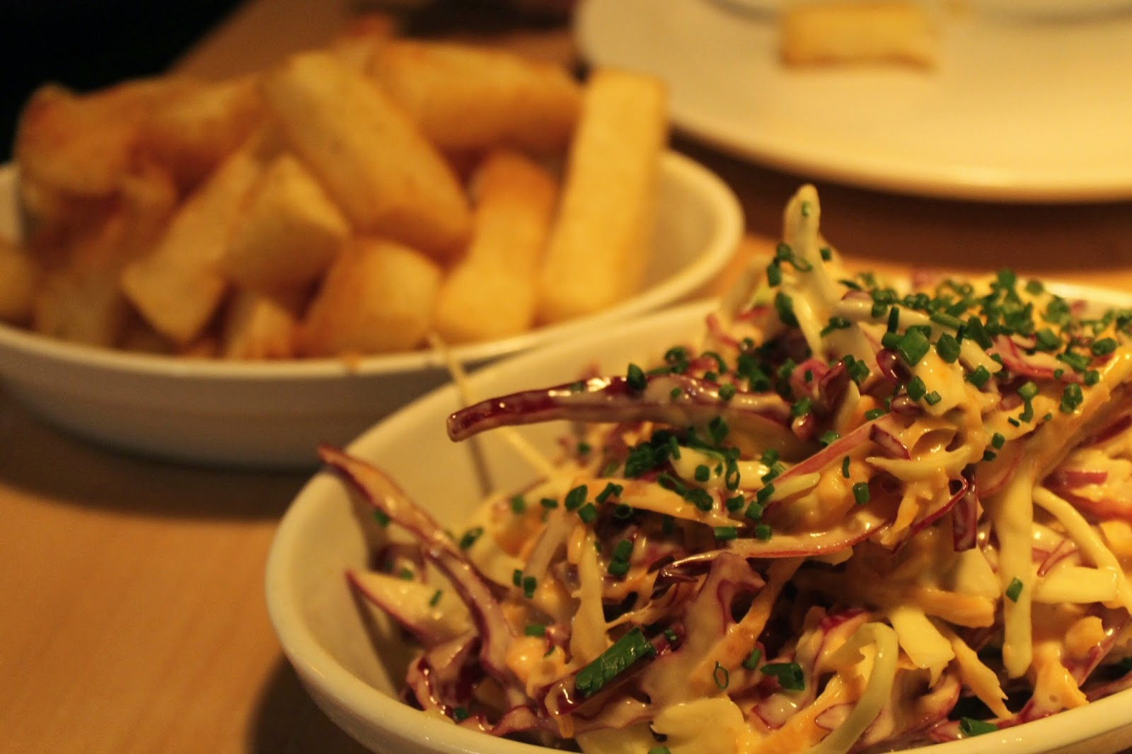 coleslaw and chips