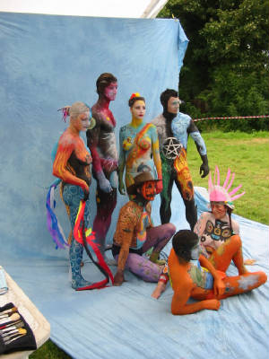 body paint public sex