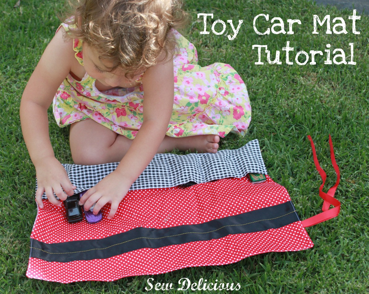 Toy Car Holder Tutorial : Sew delicious toy car mat tutorial