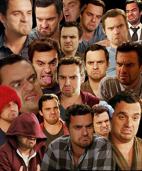 Jake Johnson and I share a lot of facial expressions.