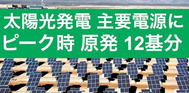 今年の夏のピーク時の発電量のうち、太陽光発電が大きなウエイトを占めていることを東京新聞が調査報道している。水力発電と並び、上回る地域もある。8社平均では6%を超えている。      四国電力は情報を公開しなかったと報じられている。四国の住民は不幸である。