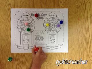 gwhizteacher, bubble gum sums math game