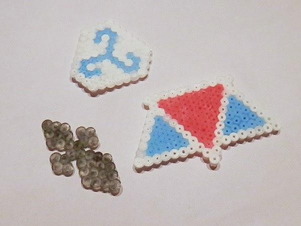 Triskell, hermine et triangles en Perles Hama @Creavea