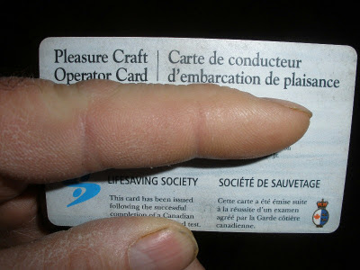 Pleasure Craft Operators Card