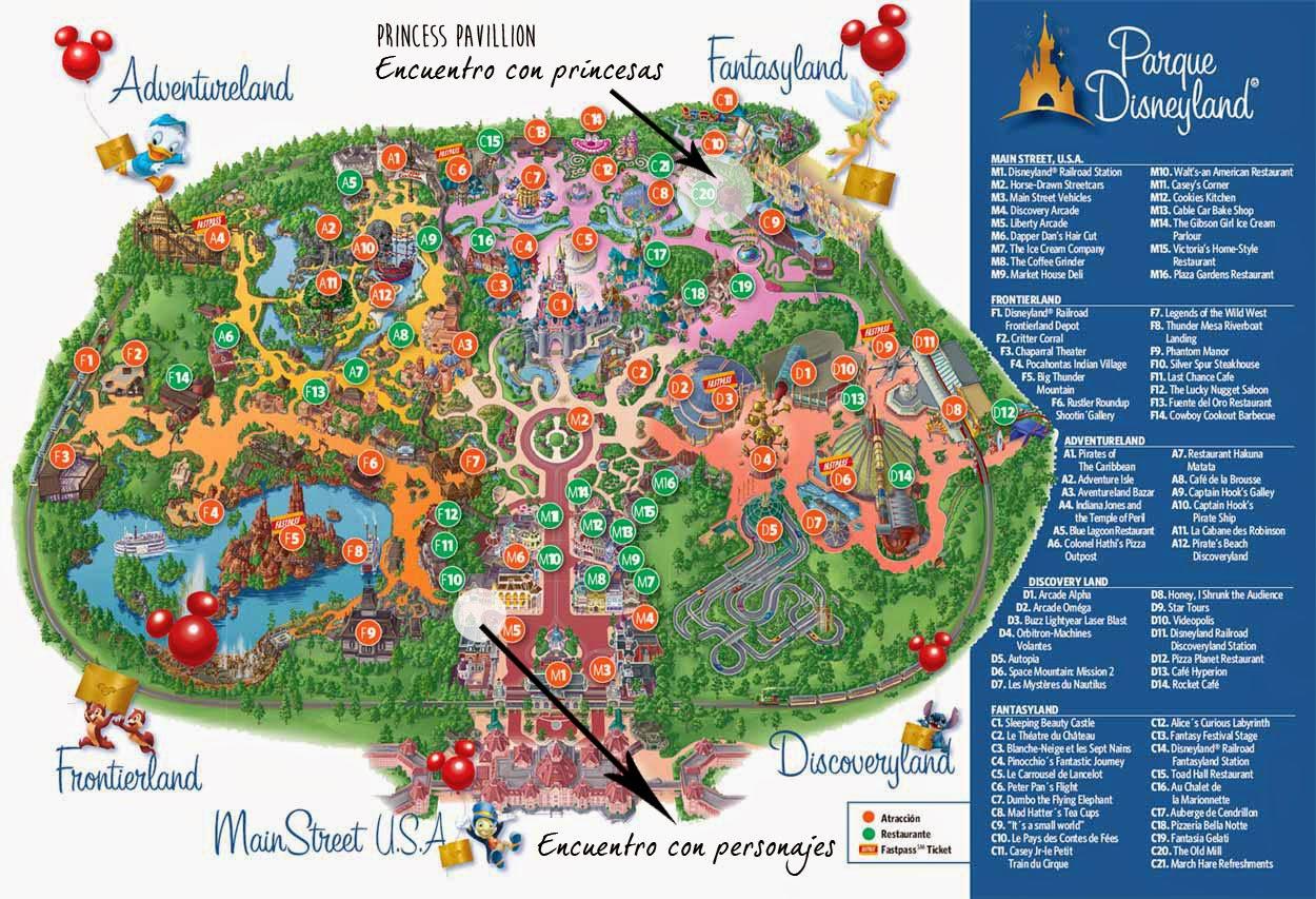 Trucos Disney: zona de encuentro con los personajes y princesas Disney