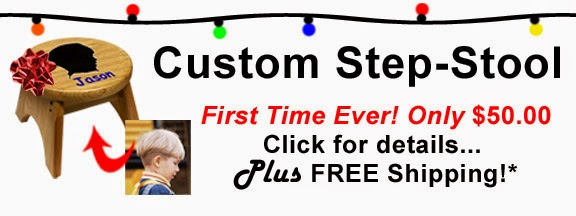 Custom Step Stool Deal at Holgate Toy