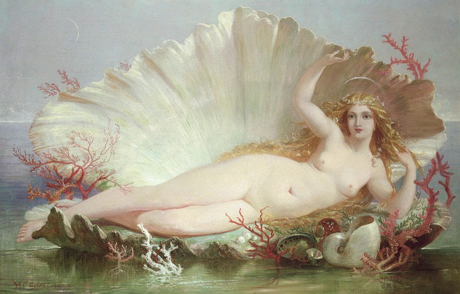 Henry Courtney Selous, The Birth of Venus (1852)