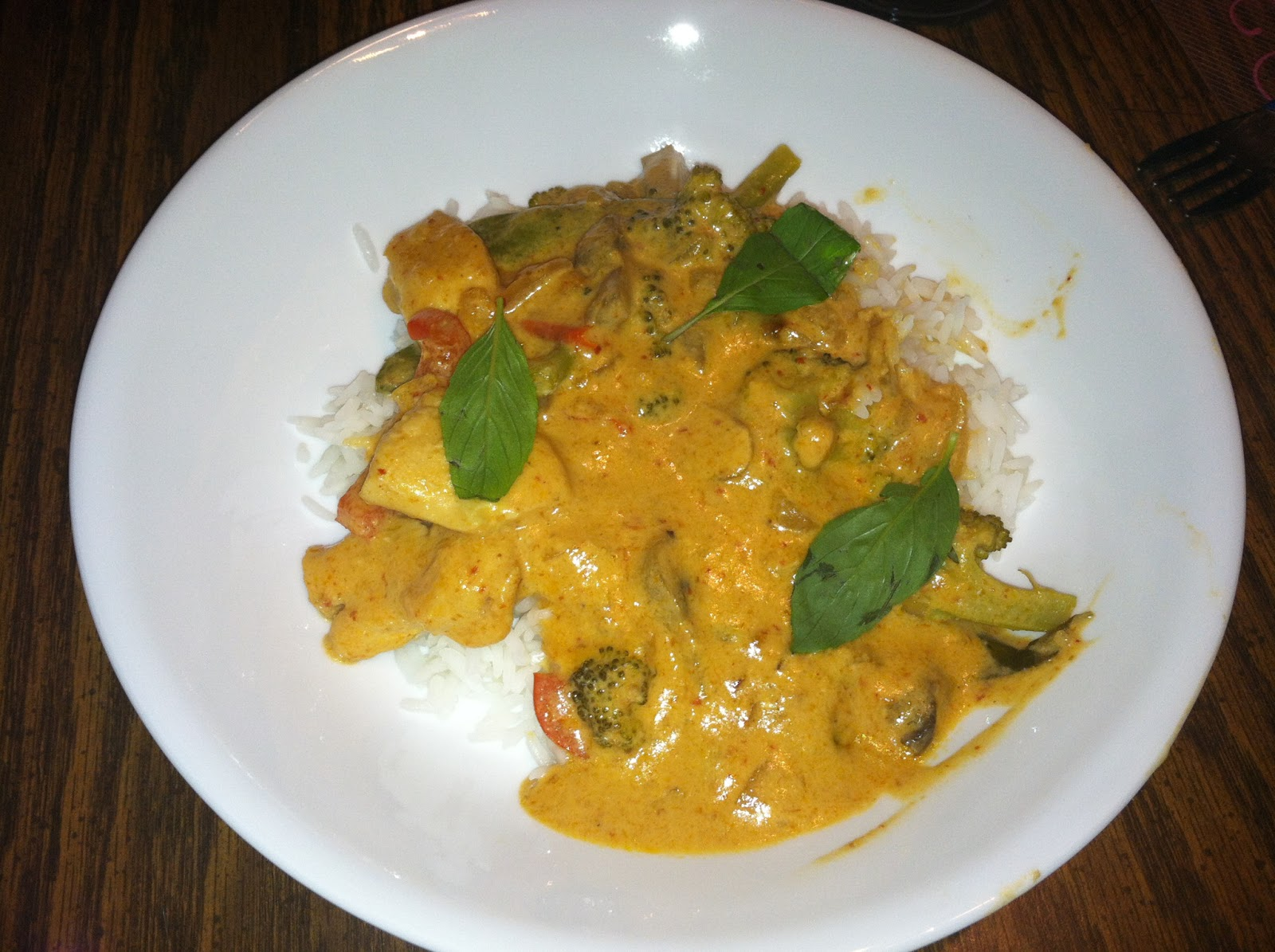 Finished product - delicious homemade Panang Curry!