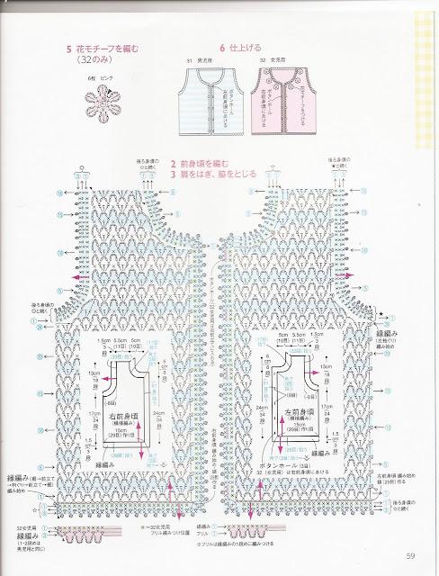 Схемы вязания жилеток для новорожденных спицами 766
